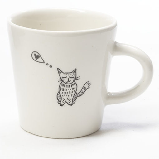 Ceramic Coffee Cup - Love Kitty