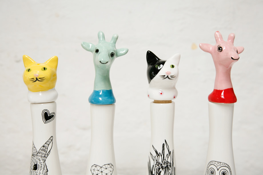 Cape Town ceramic animals cute gifts