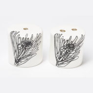 Ceramic Salt and Pepper Shakers - Protea Flower