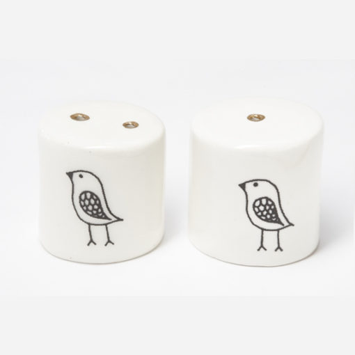 Ceramic Salt and Pepper Shakers - Small Birdy
