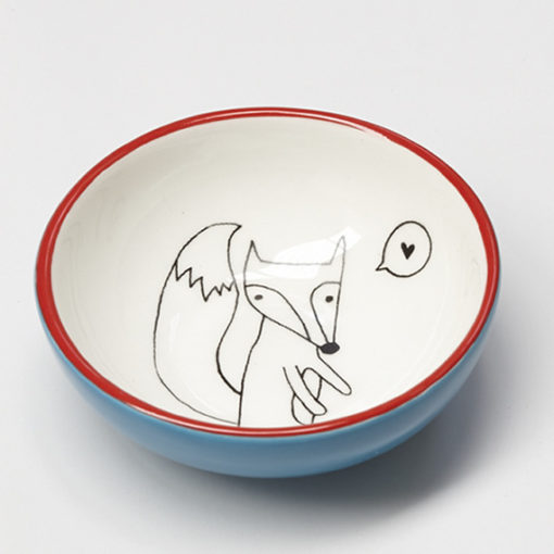 ceramic fox small bowl