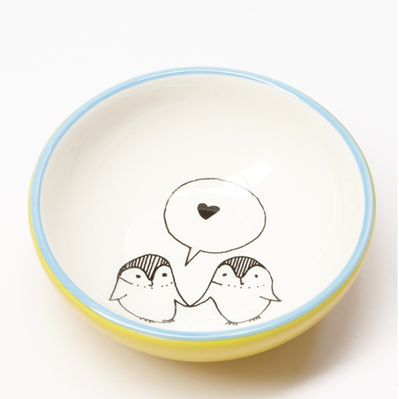 love penguin ceramic bowl