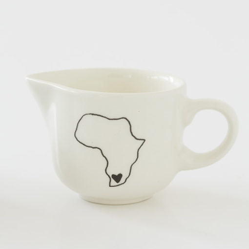 Ceramic milk jug with South Africa illustration