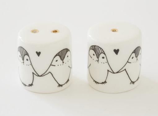 Ceramic Salt and Pepper Shakers - Penguins