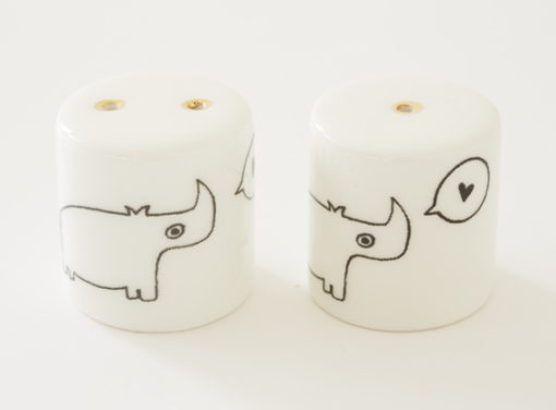 Salt and Pepper Shakers - Rhino