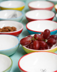 Small Bowls with grapes