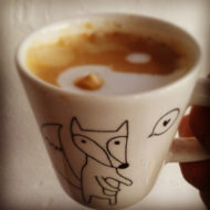 Ceramic Coffee Cup - Heart Fox