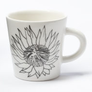 Ceramic Coffee Cup - Protea Flower