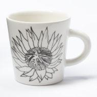 Ceramic Coffee Cup - Protea Flower
