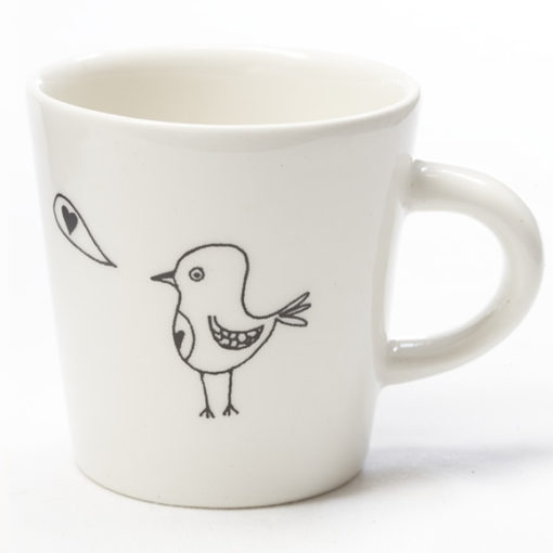 Ceramic Coffee Cup - Love Birdy