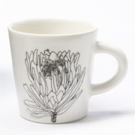 Ceramic Cup with Protea