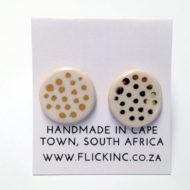 ceramic earring dots