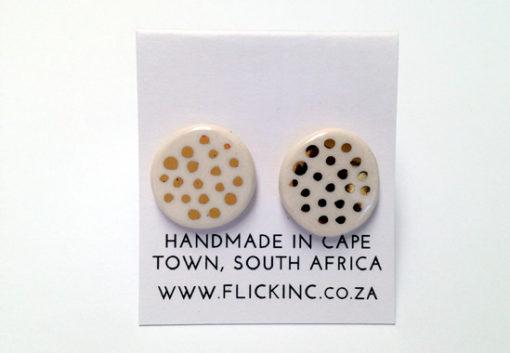 ceramic earring dots