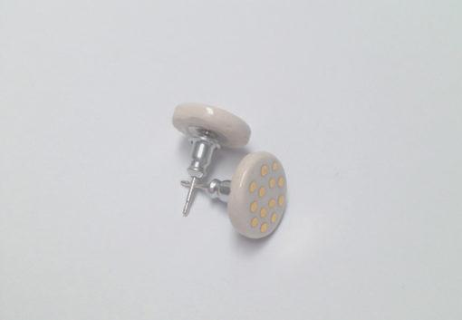 small ceramic earrings dots