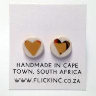 small ceramic earrings heart