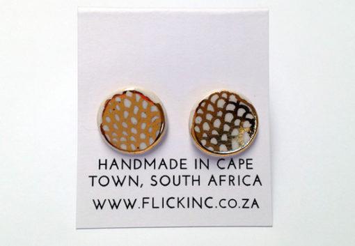 small ceramic earrings indras net