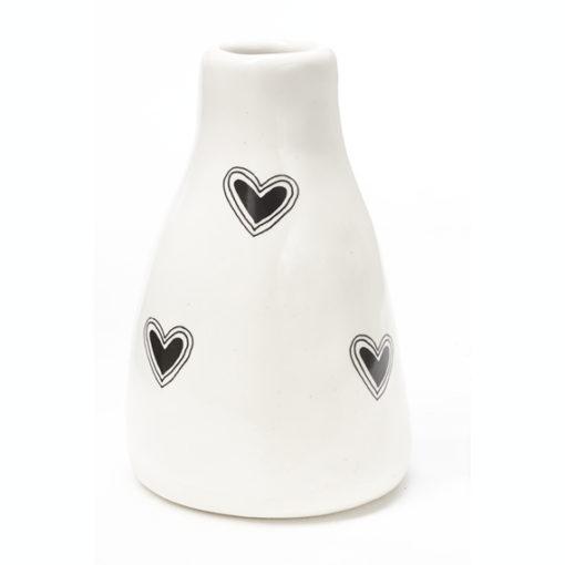 Short Vase - Hearts