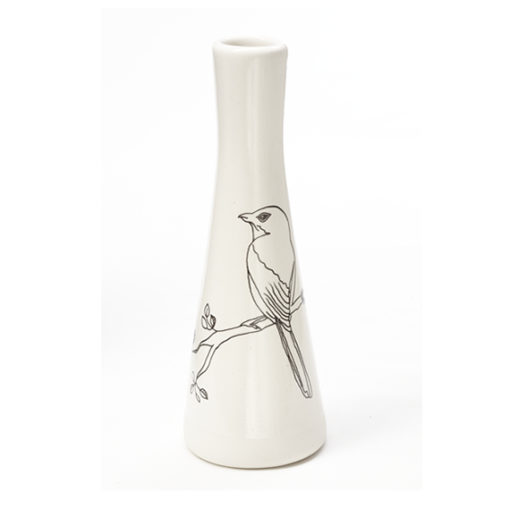 Tall Vases - Two Birds on a Branch