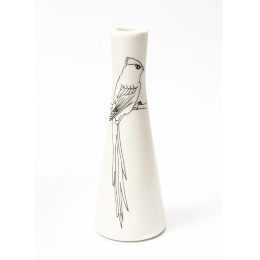Tall Vases - Bird with Long Tail