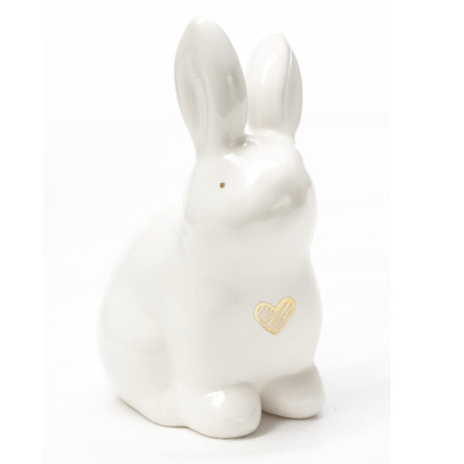 Ceramic Easter Bunny with heart of Gold illustration