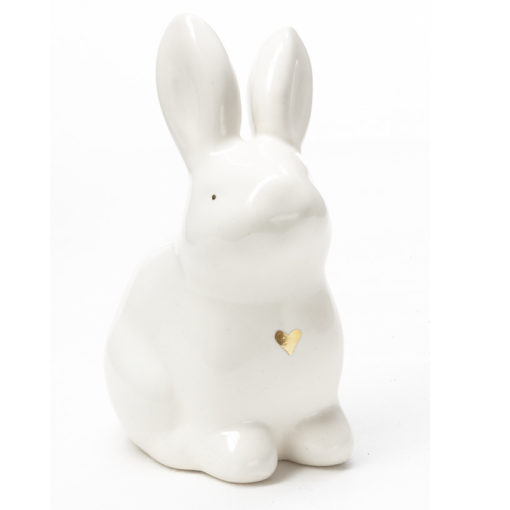 Ceramic Easter Bunny Gold illustration
