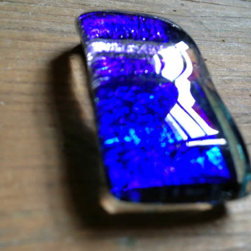 dichroic glass pendant - Deep Ocean