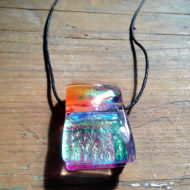 dichroic glass pendant by flickglass - Ephemeral with Chord