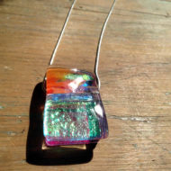 dichroic glass pendant by flickglass - Ephemeral with silver chain