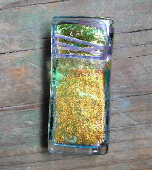 dichroic glass pendant - Erstwhile