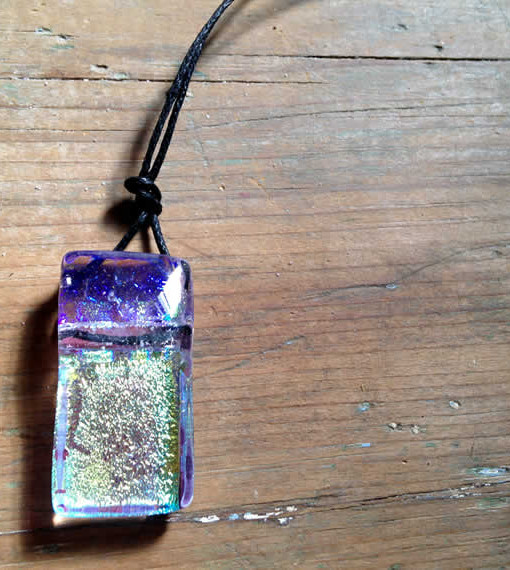 dichroic glass pendant by flickglass - Opulent with chord