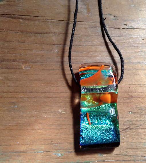 dichroic glass pendant - Primordial