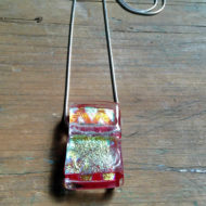 dichroic glass pendant by flickglass - Scintilla with silver