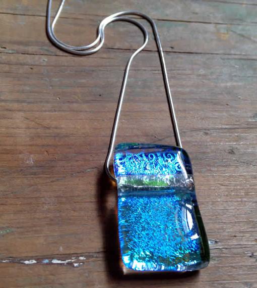 dichroic glass pendant - Sempiternal