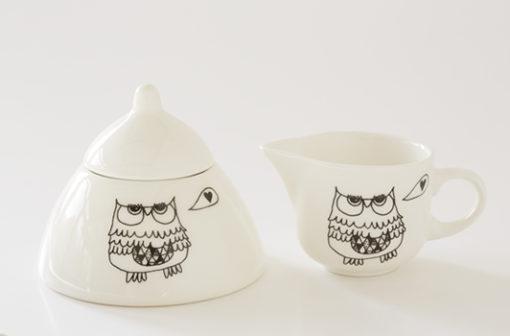 milk and sugar bowl owl