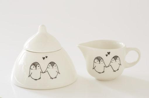 Ceramic Milk Jug and Sugar Bowl Set