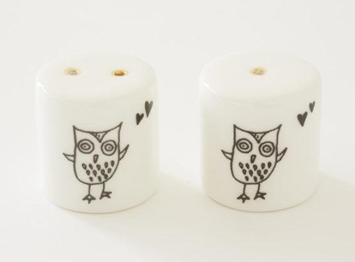 Salt and Pepper Shakers - Owl Eyes