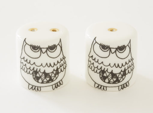 Salt and Pepper Shakers - Owly