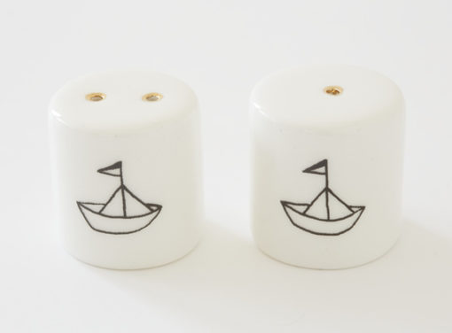 Salt and Pepper Shakers - Small House in Woods
