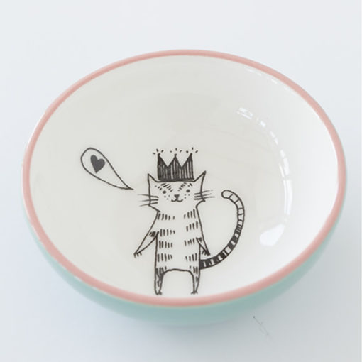 Small Ceramic Bowl - Cat with Crown