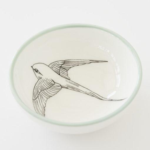 Small Ceramic Bowl - Swallow