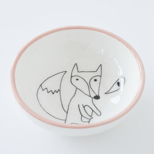 Small Ceramic Bowl - Fox love pink