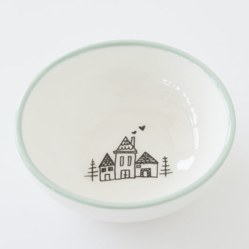Small Bowl - Little Houses in Woods