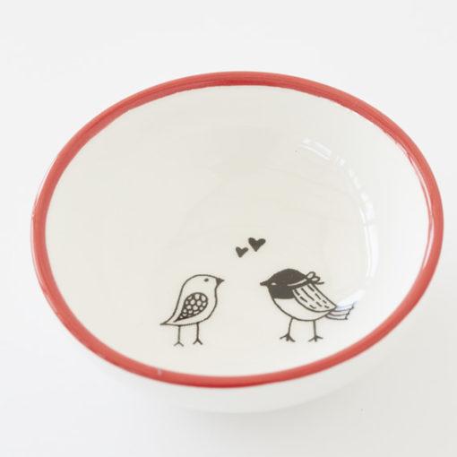 Small Ceramic Bowl - Love Birds