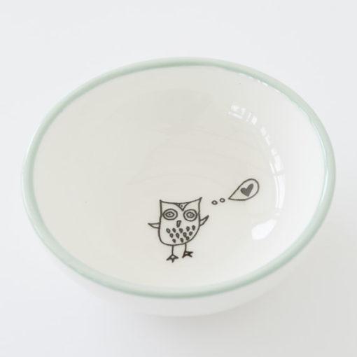 Small Ceramic Bowl - Owl Eyes