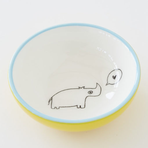 Small Ceramic Bowl - Rhino
