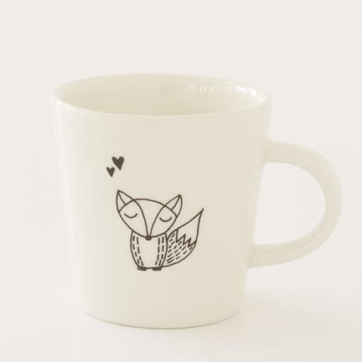 Fox Illustration Ceramic Cup