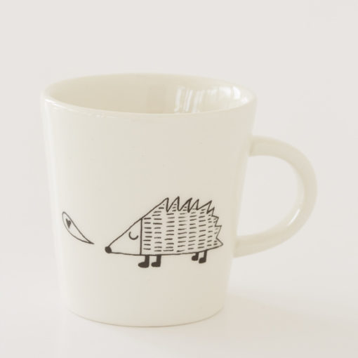 Hedgehog Illustration Ceramic Cup