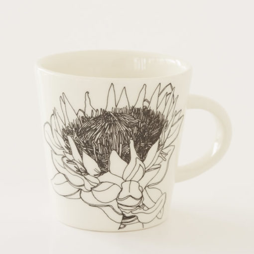 Protea Illustration Ceramic Cup