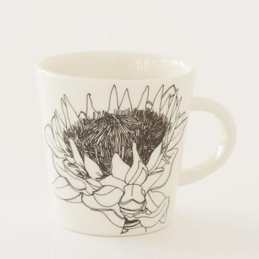 Protea Illustration Ceramic Cup