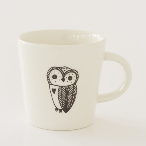 Owl Illustration Ceramic Cup